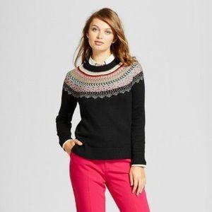 Colorful fair isle sweater